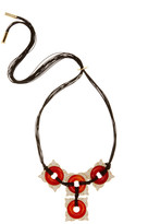 House Of Harlow Carnelian Frontal Statement Cord Necklace