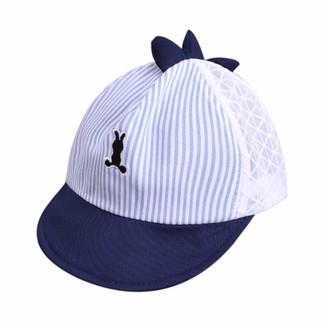 Culer Baby Baseball Cap Infant Sun Hat Newborn Cotton Adjustable Baseball Hats Sun Visors Toddler Ball Caps for Boys Dinosaur Design(Blue)