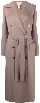 Céline Pre-Owned Pre-Owned Double-Breasted Belted Coat
