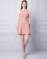 Le Château Knit Crepe & Mesh Cutout Dress