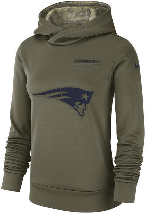 pretty nice f0860 68cd6 Women New England Patriots Salute To Service Therma Hoodie