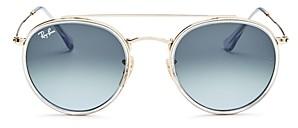 Ray-Ban Unisex Icons Brow Bar Round Sunglasses, 51mm