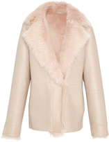 Paule Ka Fur Lined Leather Jacket