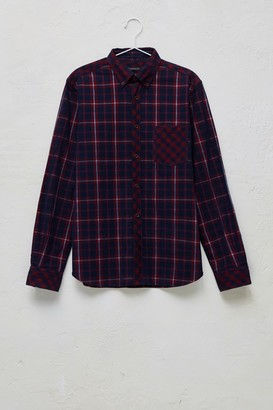 French Connection Pattern Block Corduroy Checked Shirt