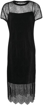 McQ Swallow Lace Slip Dress