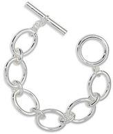 Lauren Ralph Lauren Silvertone Oval Link Bracelet