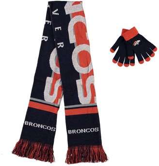 Women's Denver Broncos Glove and Scarf Set