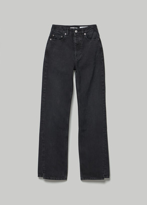 Our Legacy Women's Spiral Cut Jean in Washed Black Size 24
