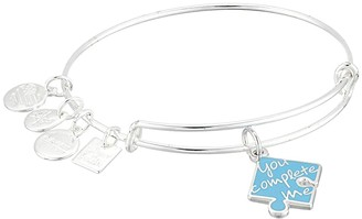 Alex and Ani You Complete Me Bangle (Shiny Silver) Bracelet