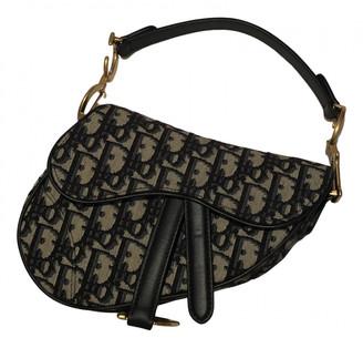 Christian Dior Saddle Blue Cloth Handbags