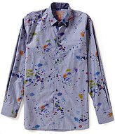 Visconti Big & Tall Paint Splatter Print Shirt