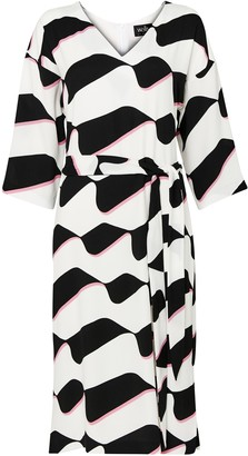 Wallis White Abstract Print Shift Dress