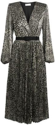 Rebecca Vallance Vienna Lurex Belted Dress