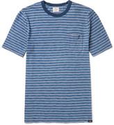 Faherty Striped Slub Cotton-jersey T-shirt - Blue