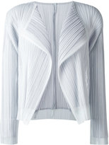 Pleats Please By Issey Miyake - pleated cropped jacket - women - Polyester - 4