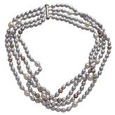 M Pearl Baby Blue Multi-Layer Pearl Necklace