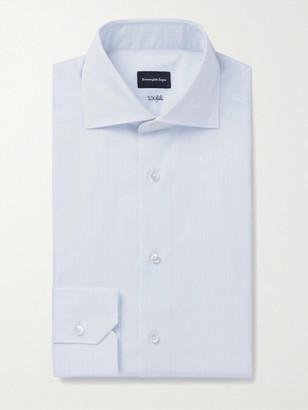 Ermenegildo Zegna Light-Blue Cutaway-Collar Striped Cotton Shirt