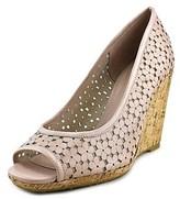 Dune London Cassie Women Open Toe Leather Pink Wedge Sandal.