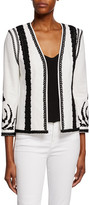Kobi Halperin Camila Embroidered Open-Front Jacket