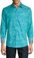 Robert Graham Men's Eppes Printed Cotton Button-Down Shirt