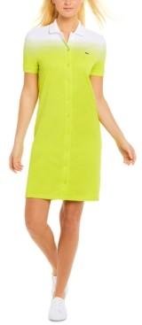 Lacoste Ombre Button-Down Dress