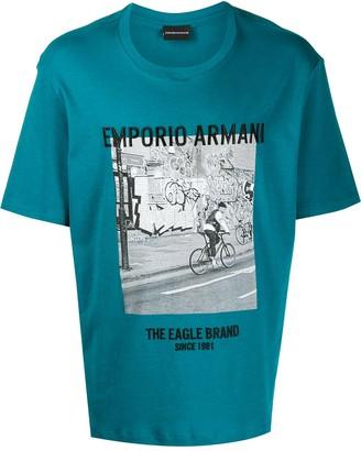 Emporio Armani photographic-print T-shirt