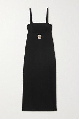 CHRISTOPHER ESBER Embellished Cutout Wool-blend Midi Dress - Black
