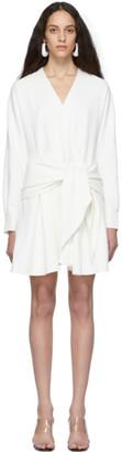 Tibi White Chalky Drape Short Wrap Dress