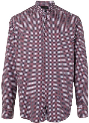 Emporio Armani Check-Print Zipped Shirt