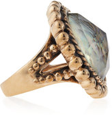 Stephen Dweck Abalone-Rock Crystal Ring