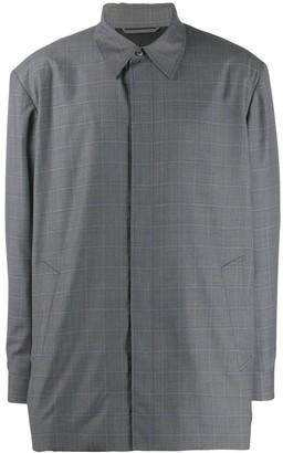 Balenciaga Square-Shoulder Tailored Shirt Jacket