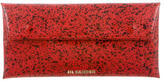 Jil Sander Leather Paint Splatter Clutch