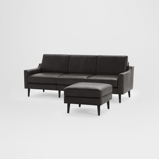"west elm Burrow Nomad Leather Sofa with Ottoman (86.5"")"