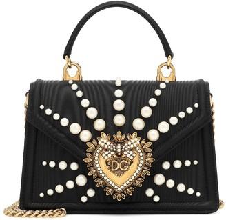 Dolce & Gabbana Devotion Small moirA shoulder bag