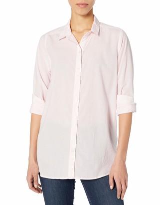 Lucky Brand Women's Long Sleeve V Neck Classic Stripe Tunic Top