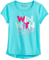 Champion Win With Style Graphic-Print T-Shirt, Toddler and Little Girls (2T-6X)