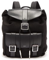 Amiri Leather-trimmed Canvas Backpack - Mens - Black