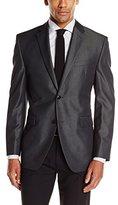 Perry Ellis Men's Charcoal Sharkskin Suit Separate Jacket