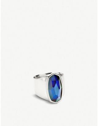 Kendra Scott Leah rhodium-plated mood ring