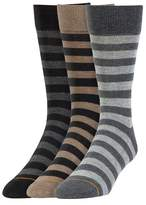 Signature Gold by GOLDTOE® 3pk Rugby Stripe Crew Sock - Assorted 6-12