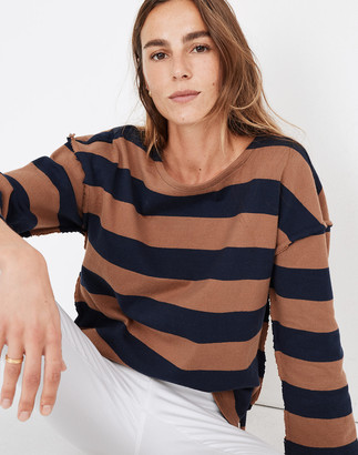 Madewell Striped Luxe Long-Sleeve Tee