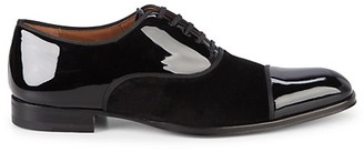 Mezlan Patent Leather Velvet Oxfords