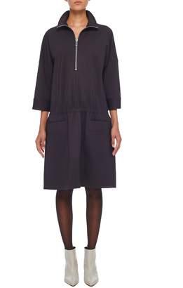 Tibi Bond Stretch Knit Tunic Dress
