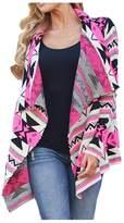 AuntTaylor Womens Batwing Cardigan Floral Kimono Cardigan Fringe Cardigans MC S