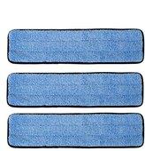 "MOP 3 Pack 18"" Microfiber Wet Refill Pads for Flat Microfiber Frames"