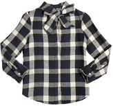 American Outfitters Plaid Cotton Flannel Shirt W/ Lurex
