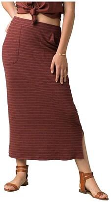 Prana Tulum Skirt (Dark Khaki) Women's Skirt