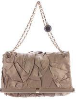 Stella McCartney Ruched Satin Shoulder Bag