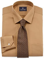 STAFFORD Stafford Travel Easy-Care Dress Shirt and Tie Set - Big &Tall