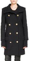 Balmain Double-Breasted Mid-Length Coat
